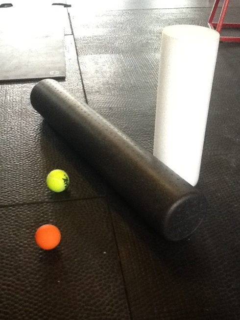 Foam rollers, lacrosse and tennis balls. Vital tools for self massage and staying pain free.